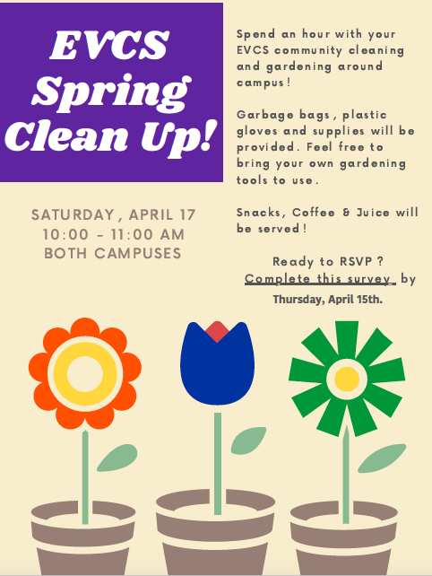 Spring Clean Up 4/17/21 from 10-11AM